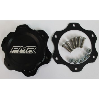 PMR Fuel Cell Cap Assembly- 6 Bolt Black with Gasket
